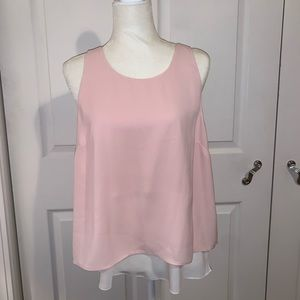 Banana Republic Layered Pink and White Tank